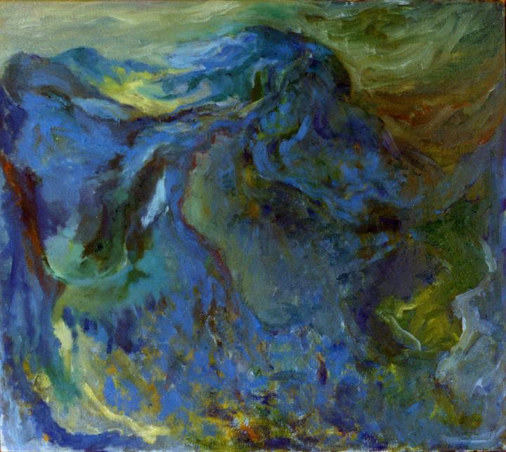 De krater, olieverf op linnen, ...x... cm, 1994