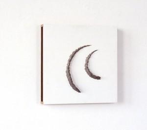 Landweggetje naar China, zijdematverf, acrylverf en papier maché op hout, 30x30x4 cm, 1991