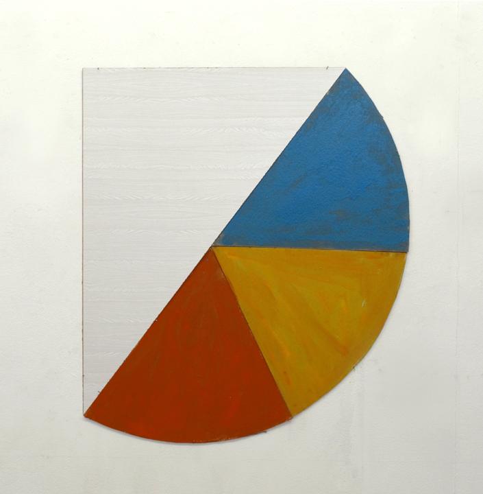 Taartje, formica en olieverf op karton, 56x60 cm, 1983