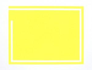Zonder titel, fluorescerende verf op papier, 50x40 cm, 1985