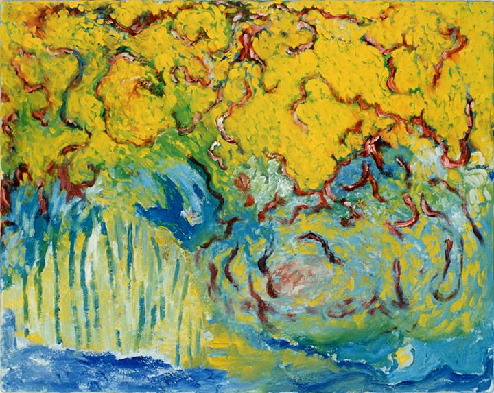 Bos van het jongetje, olieverf op linnen, 100x80 cm, 1995