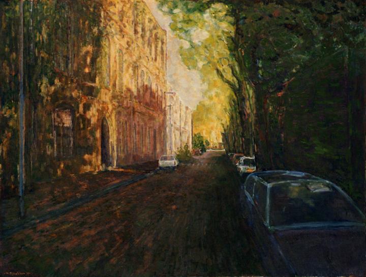 Boschveldweg, olieverf op linnen, 120x100 cm, 1998