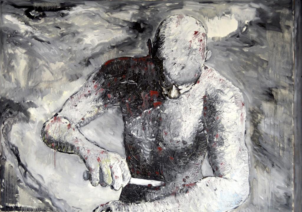 Cutting Jesus, olieverf op linnen, 185x130 cm, 2008
