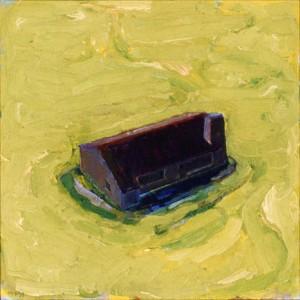 Donker huisje, olieverf, 1999