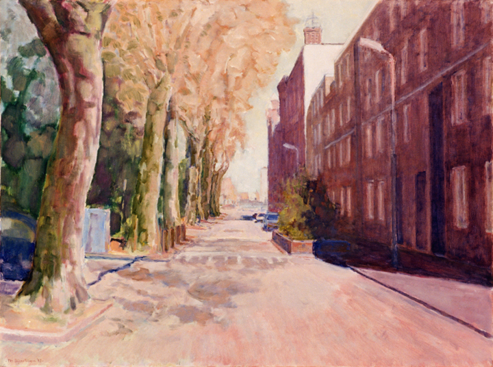 In mijn straat is het altijd lente, olieverf op linnen, 80x60 cm, 1997