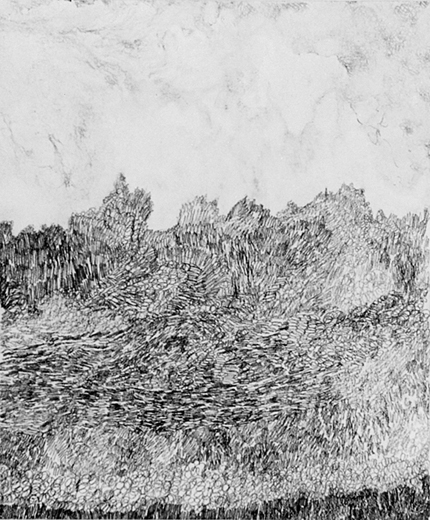 Pig's paradise, acrylverf en potlood op papier, 19x16 cm, 1995