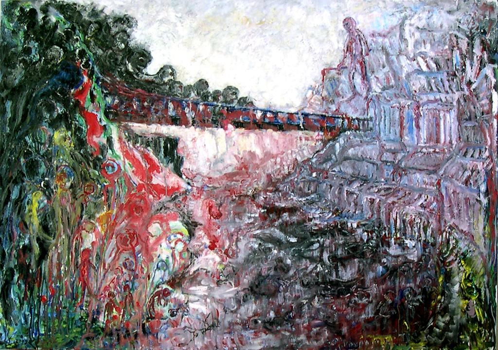 Wachter, olieverf op linnen, 140x100 cm, 2009