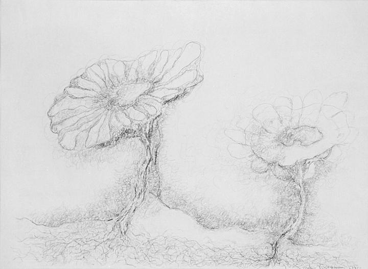 Zomer met Lieve en Veerle, acrylverf en potlood op papier, 39x29 cm, 1995