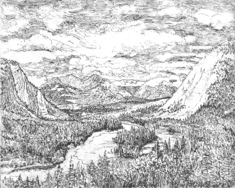 Berglandschap, ets, 29x23 cm, 2003