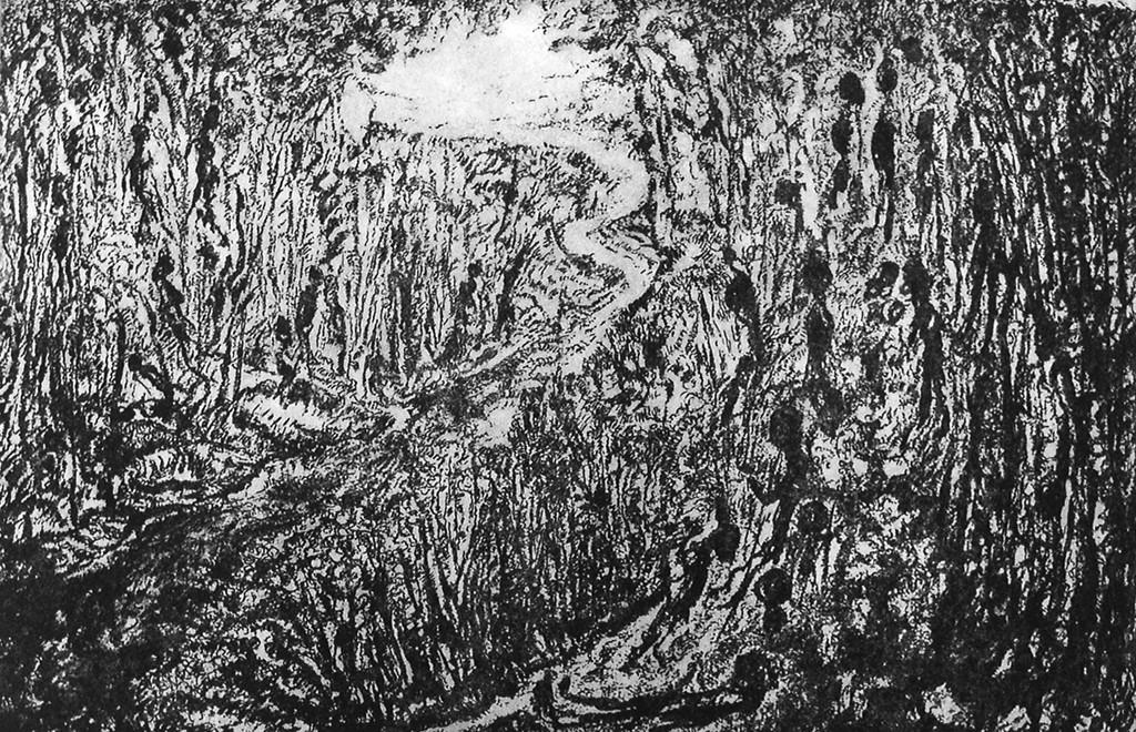 Fernweh, polymeerets, 40x26 cm, 2008