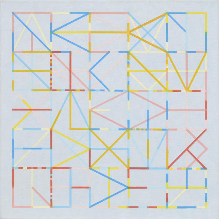 Bijna alles (Klimrek-schilderijtje voor Tim), olieverf op doek, 50 x 50 cm, 2019
