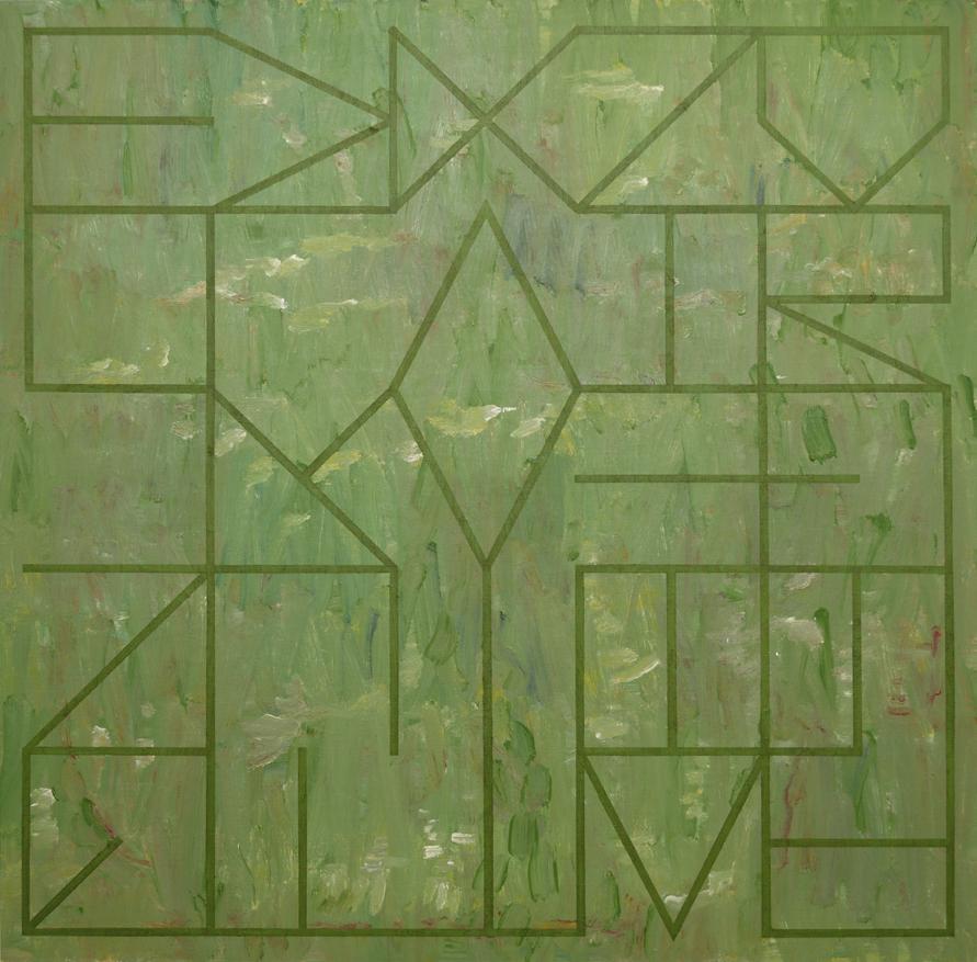 Vijver, olieverf op doek, 140 x 140 cm, 2018