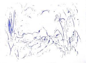Klein paradijs op 'n zondagmorgen, polymeerets, 20x15 cm, 2020